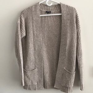EXPRESS cable knit cardigan - oatmeal (cream/tan)